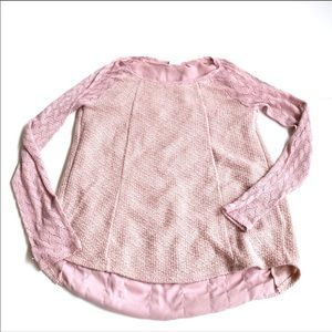 One September pink knitted long sleeve blouse s